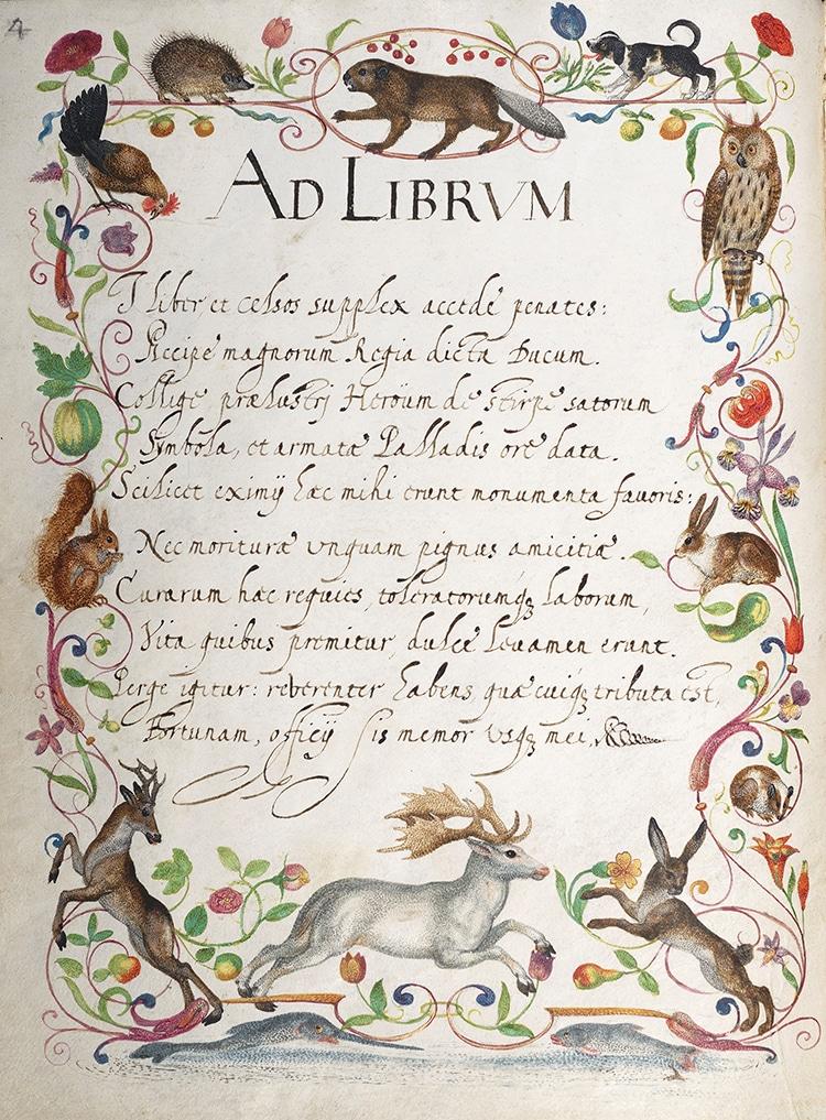 Hainhofer Friendship Book Latin Poem