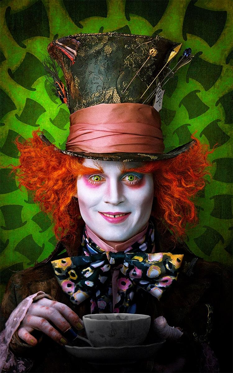 Johnny Depp como sombrerero loco