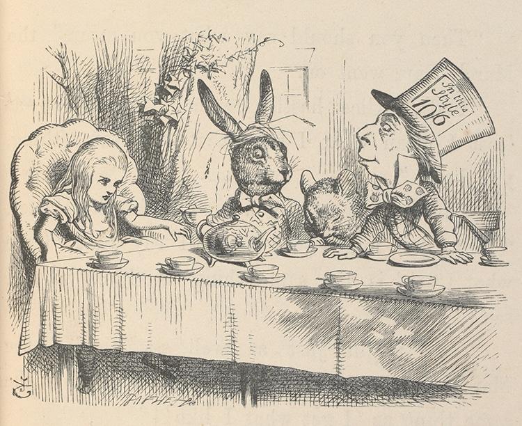 John Tenniel Illustration Mad Hatters Tea Party