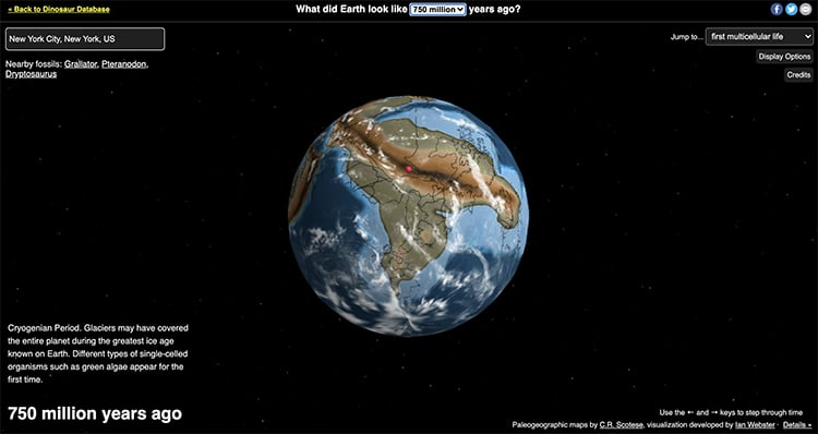 NYC 750 Million Years Ago Ancient Earth