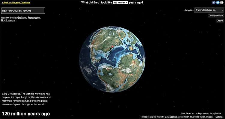 NYC Ancient Earth Map 120 Million Years Ago