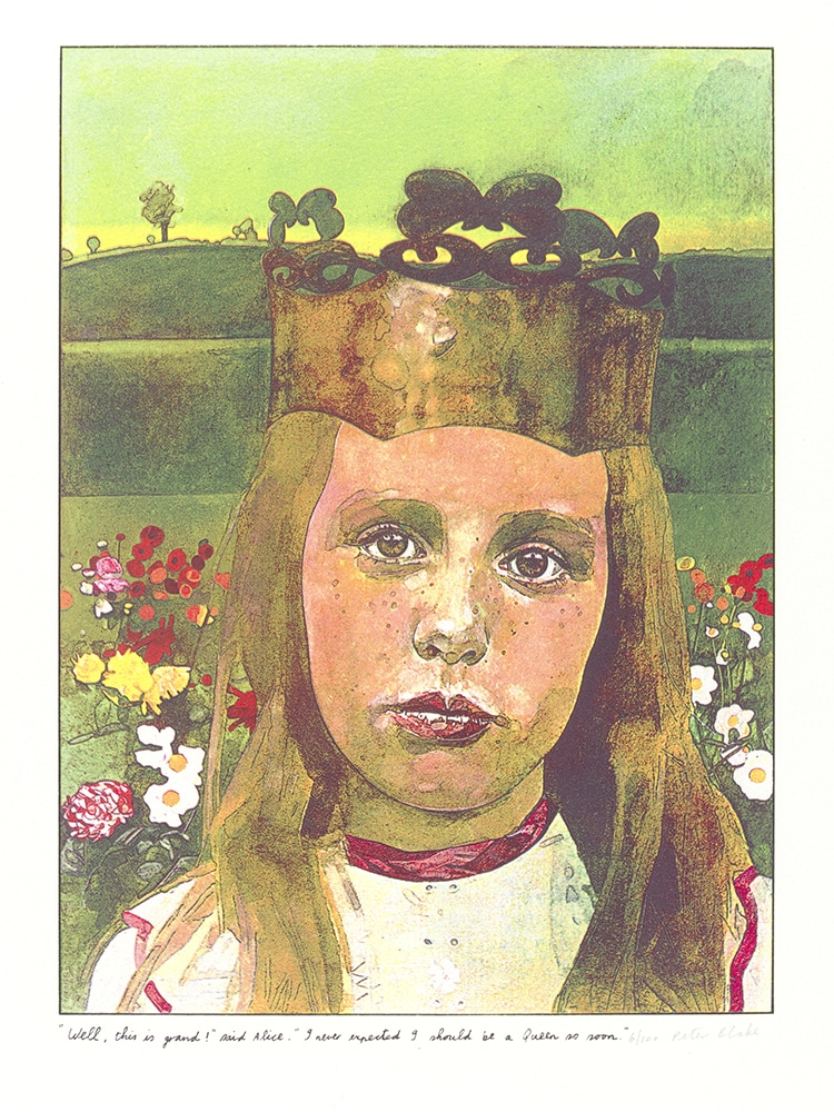 """Print By Peter Blake From The Suite Illustrating """"Alice in Wonderland"""""""