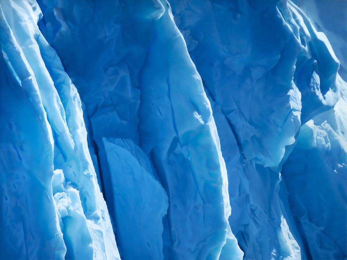 dibujo del glaciar Perito Moreno por Zaria Forman