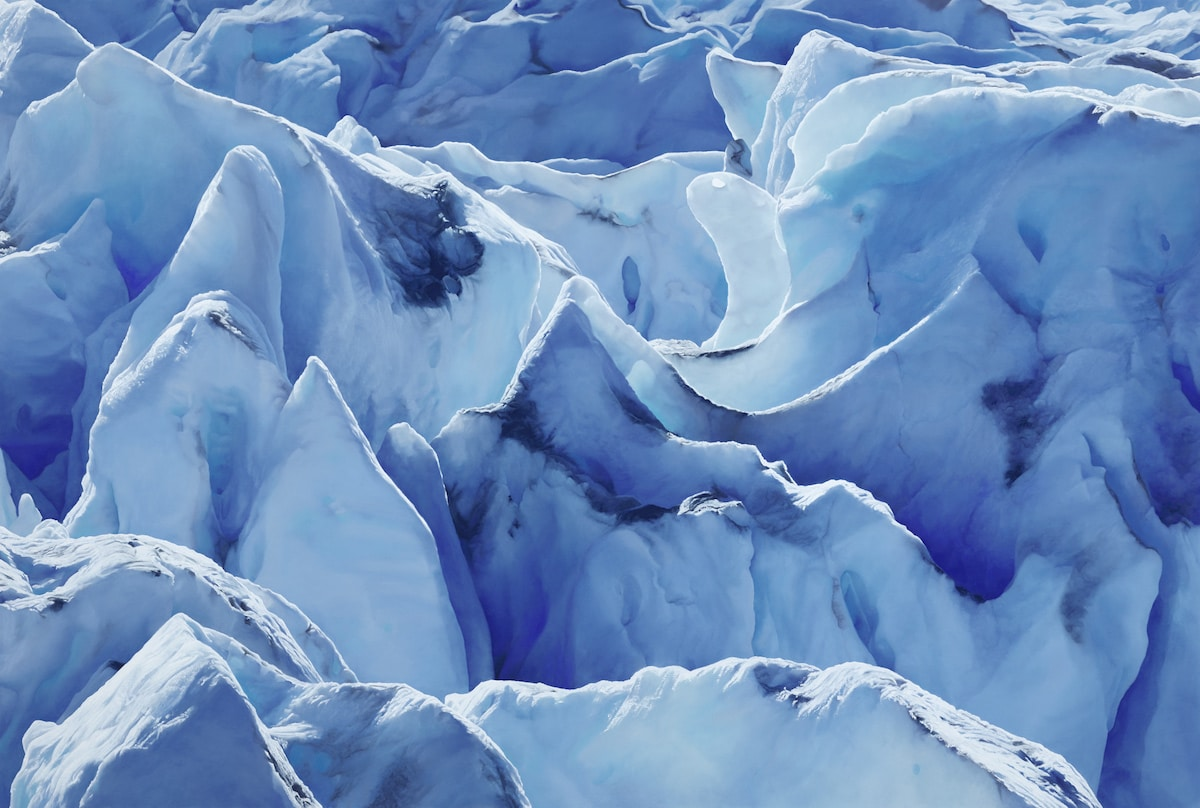 Pastel Drawing of a Glacier by Zaria Forman