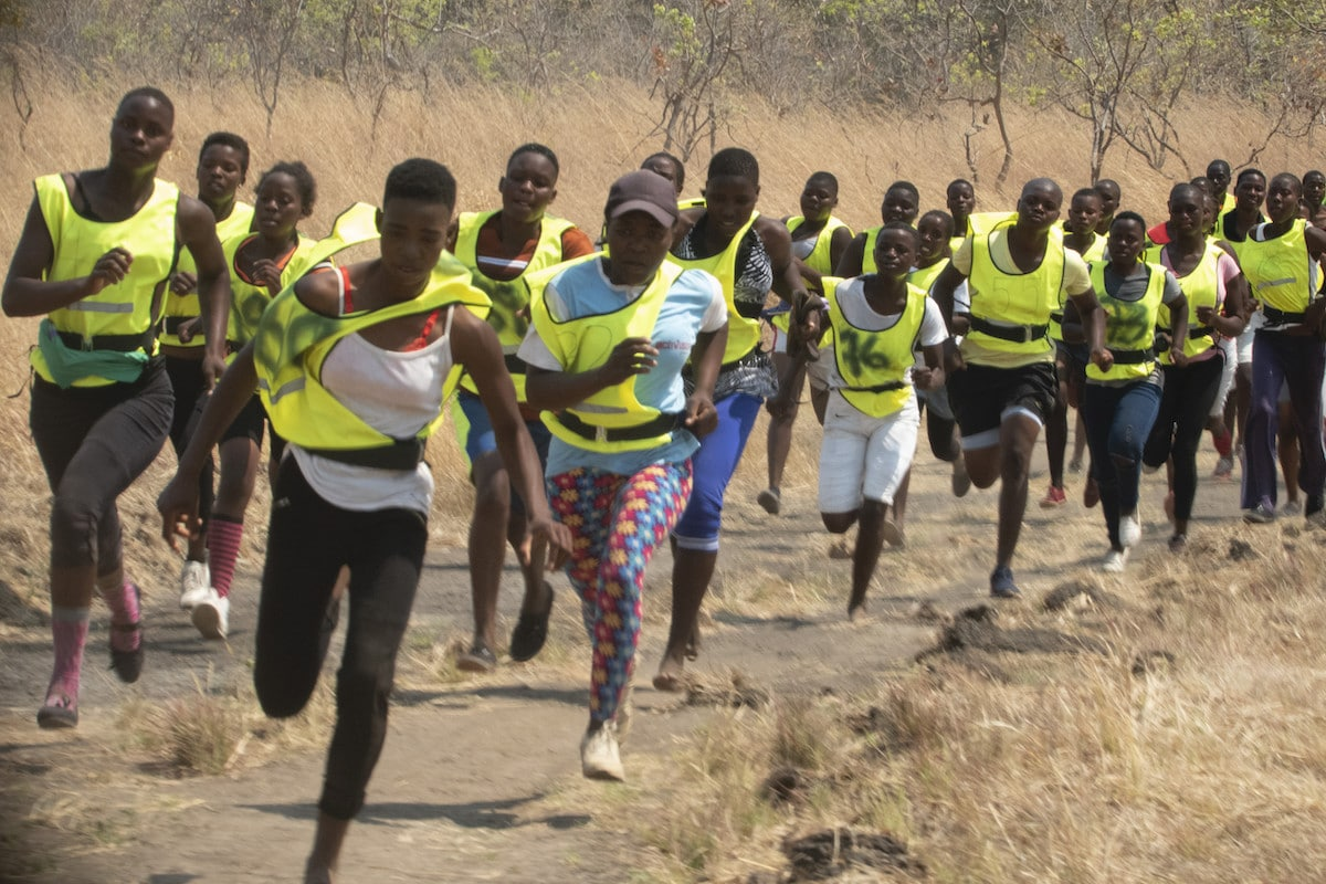 Akashinga Rangers Running During a Training Session