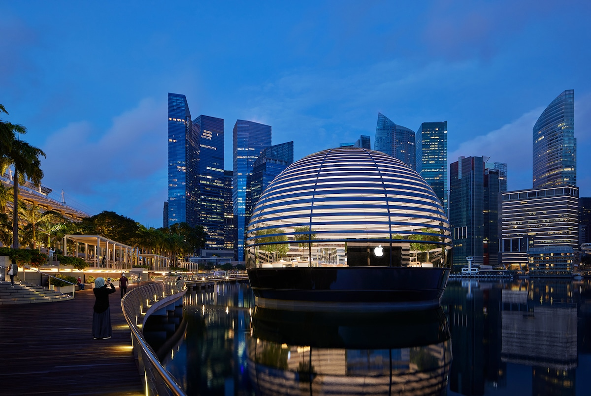 Apple Store - Marina Bay Singapore - Foster + Partners