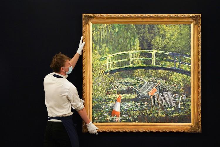 Pintura de Banksy que estará en subasta