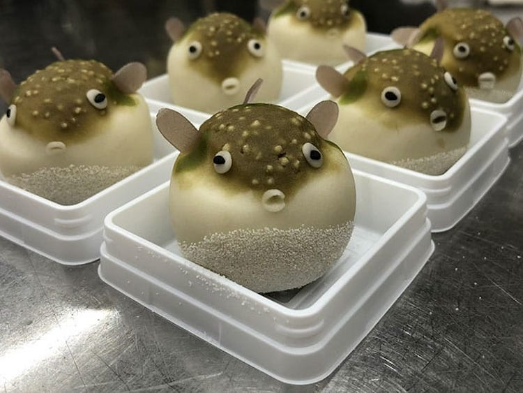 Blow Fish Wagashi by Kurokazu