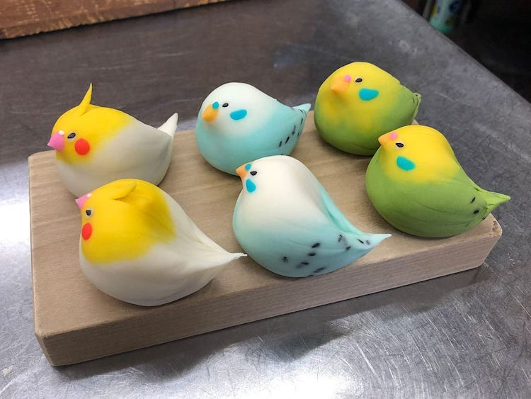 Bird Wagashi by Kurokazu
