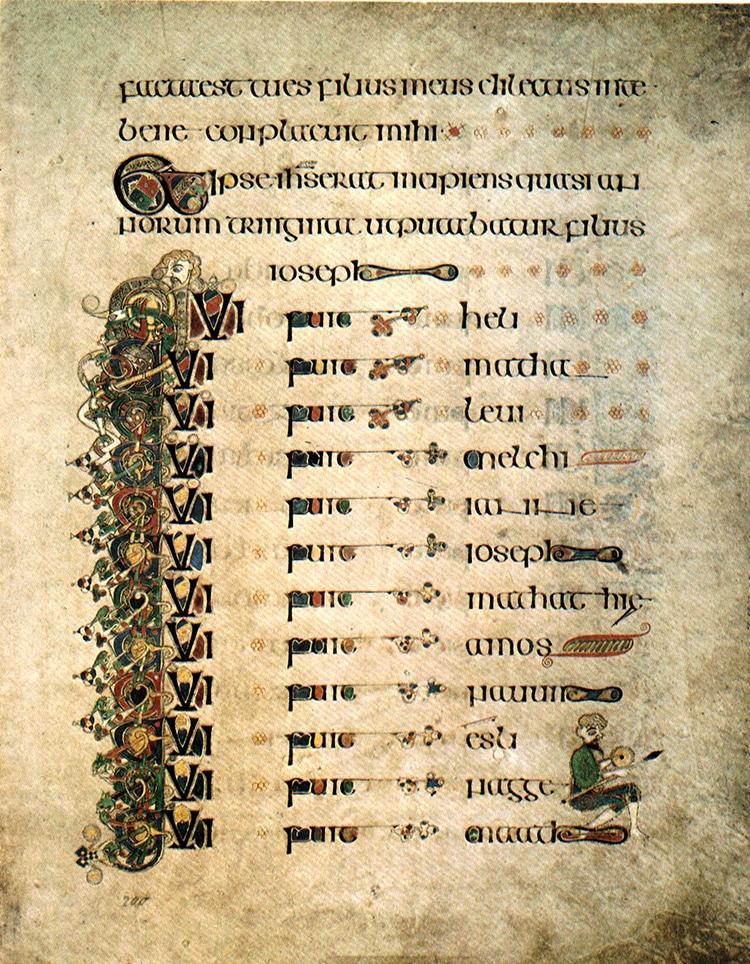 Book of Kells Uncial Script