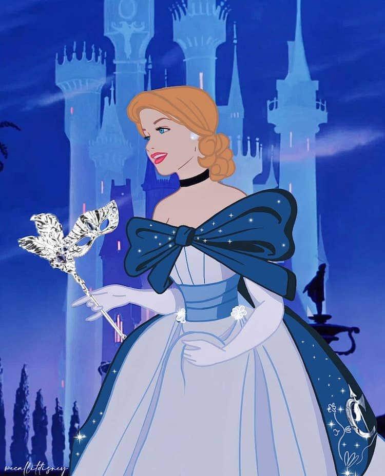 princesas disney modernas por por Maria Sanchez Garcia