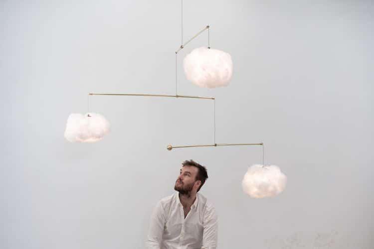Cloud Mobile Lamp by Richard Clarkson Studio