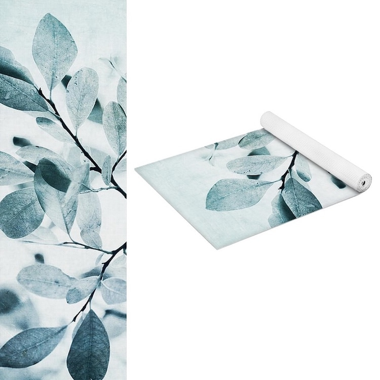 Yoga Mat with Leaves