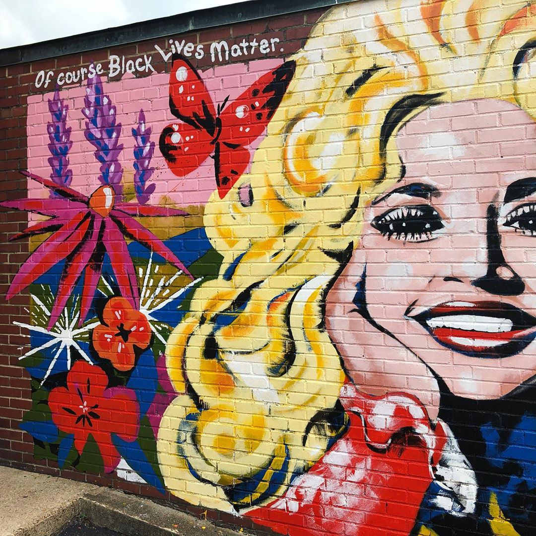 Dolly Parton Mural in Tennessee by Kim Radford