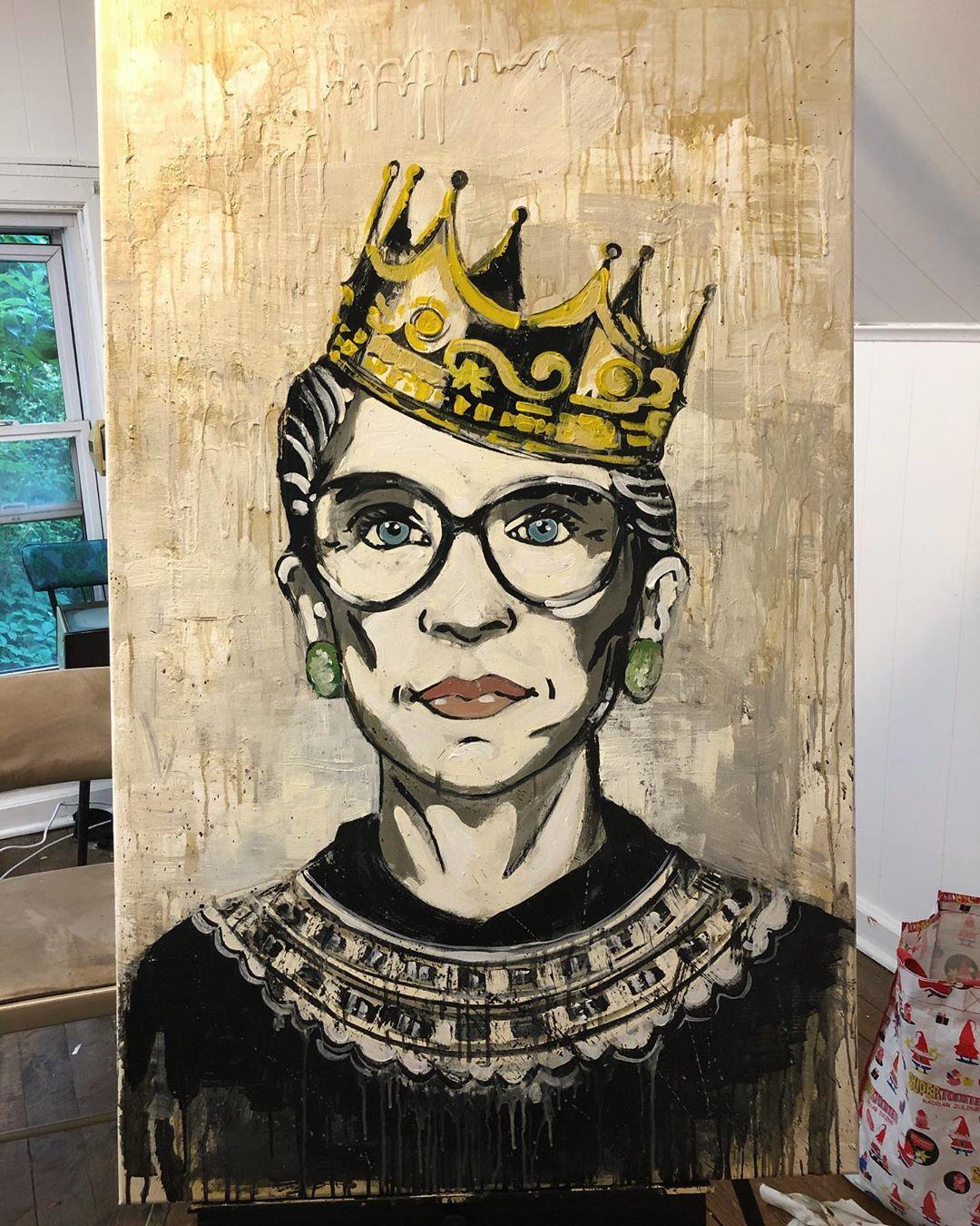 Ruth Bader Ginsburg Mural by Kim Radford