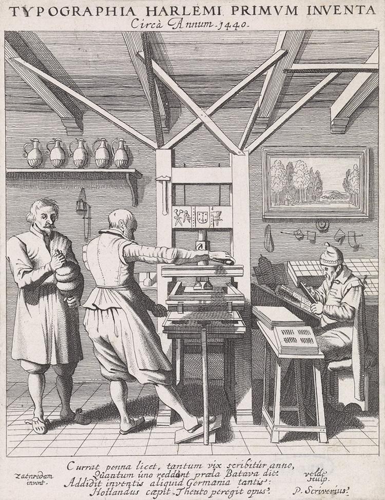 Early Screw Printing Press
