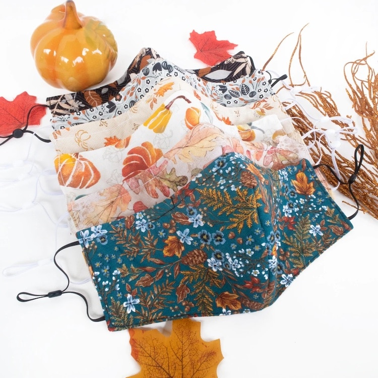 Fall Inspired Fabric Masks