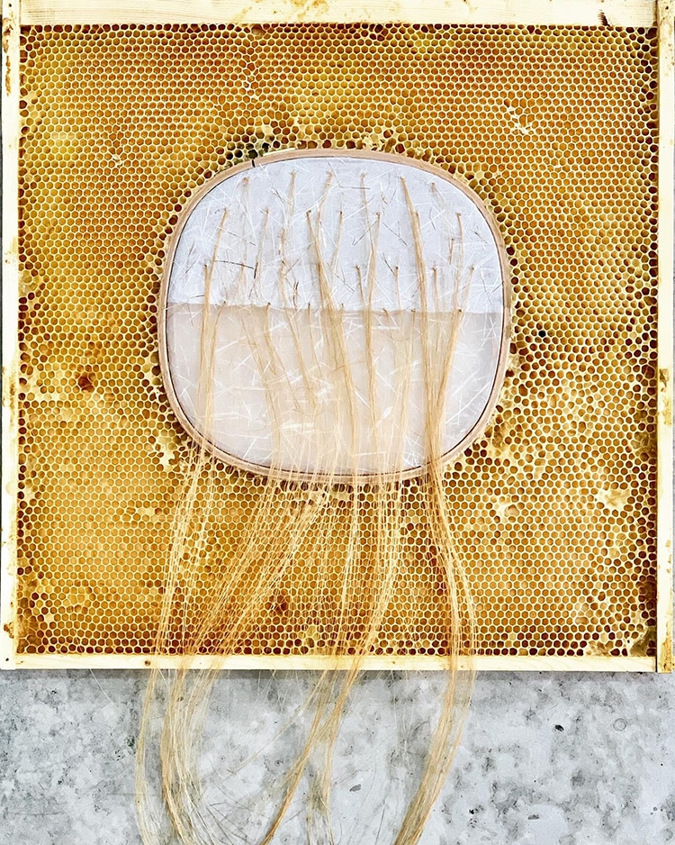 Falling Horsehair, Gold #2 Ava Roth
