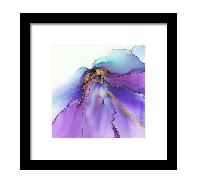 Abstract Iris Gold Leaf Framed Print