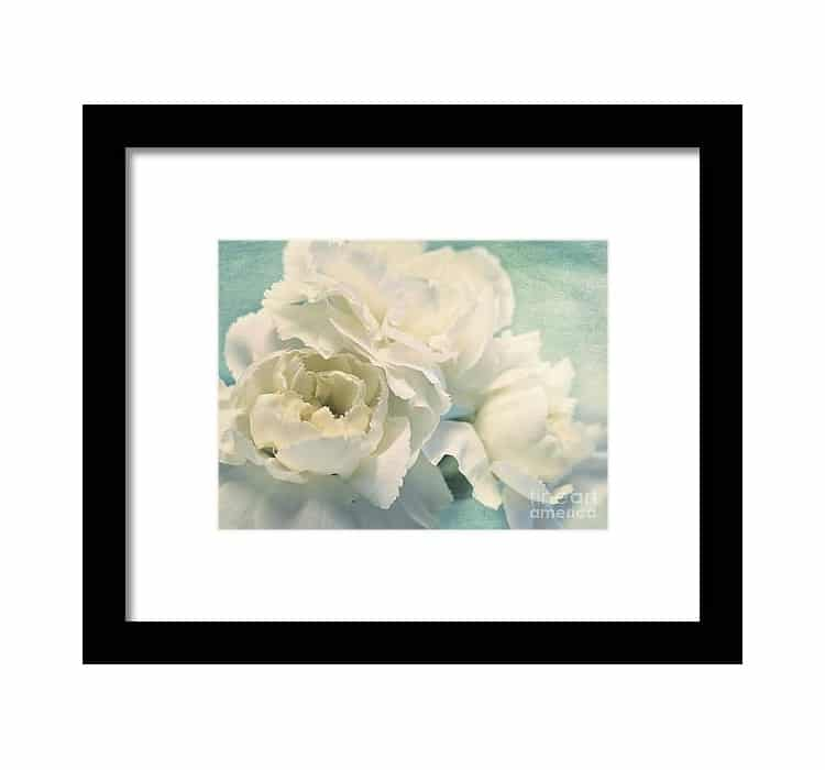 White Flower Art Print by Priska Wettstein