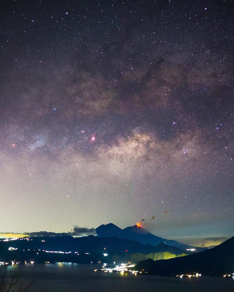 Stars in the Night Sky Over Guatemala