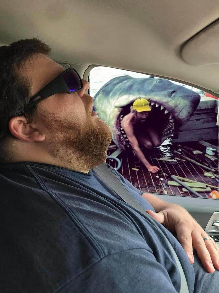 Man Sleeping With Funny Photoshop Image