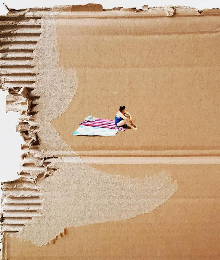 Cardboard Paintings by Golsa Golchini