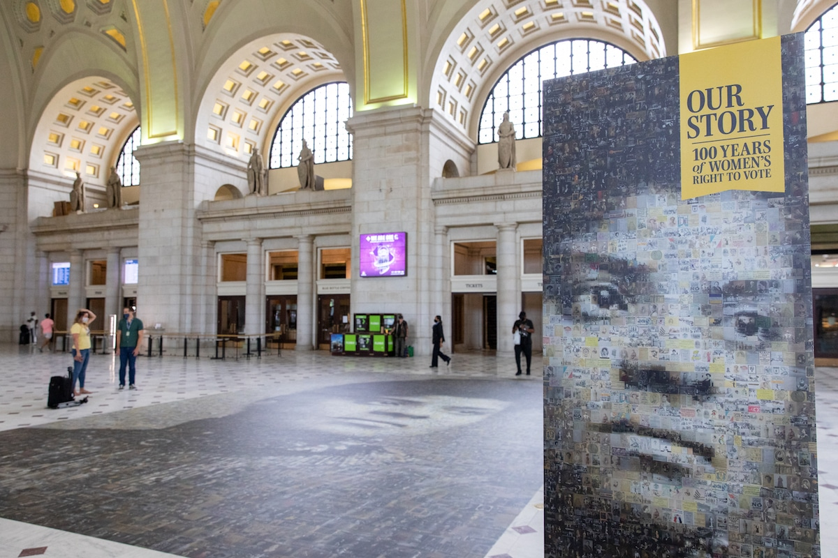 Ida B. Wells Mosaic at Union Station