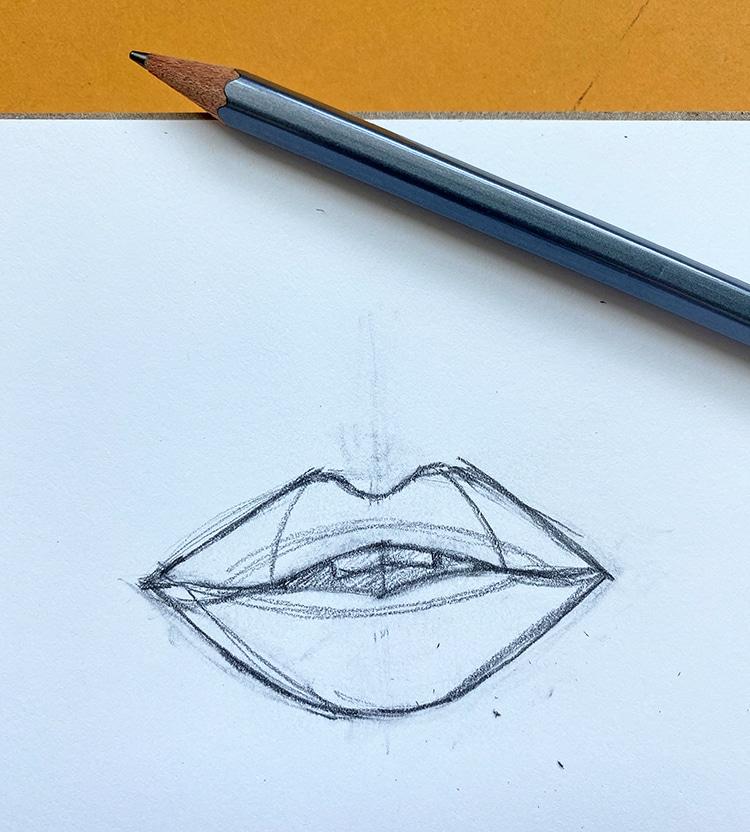 Cómo hacer un dibujo de labios