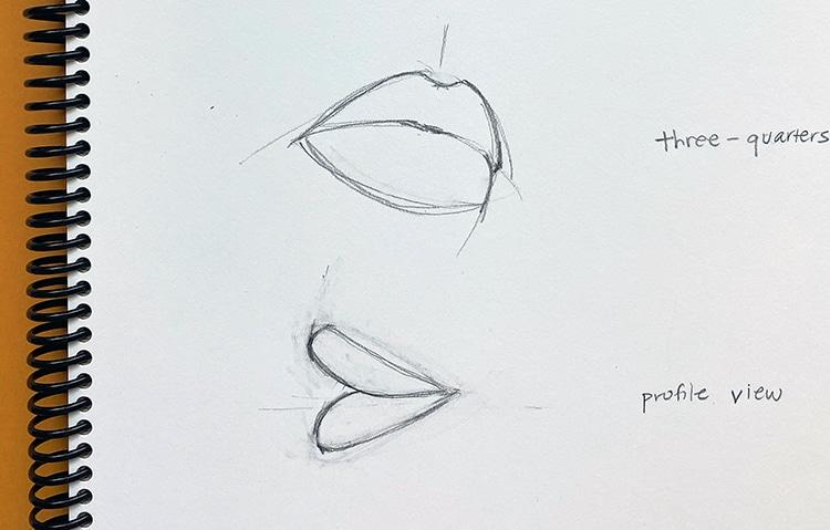 Cómo dibujar labios