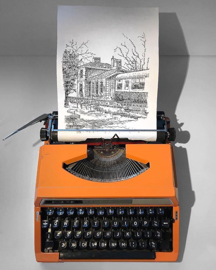 arte con maquina de escribir por James Cook