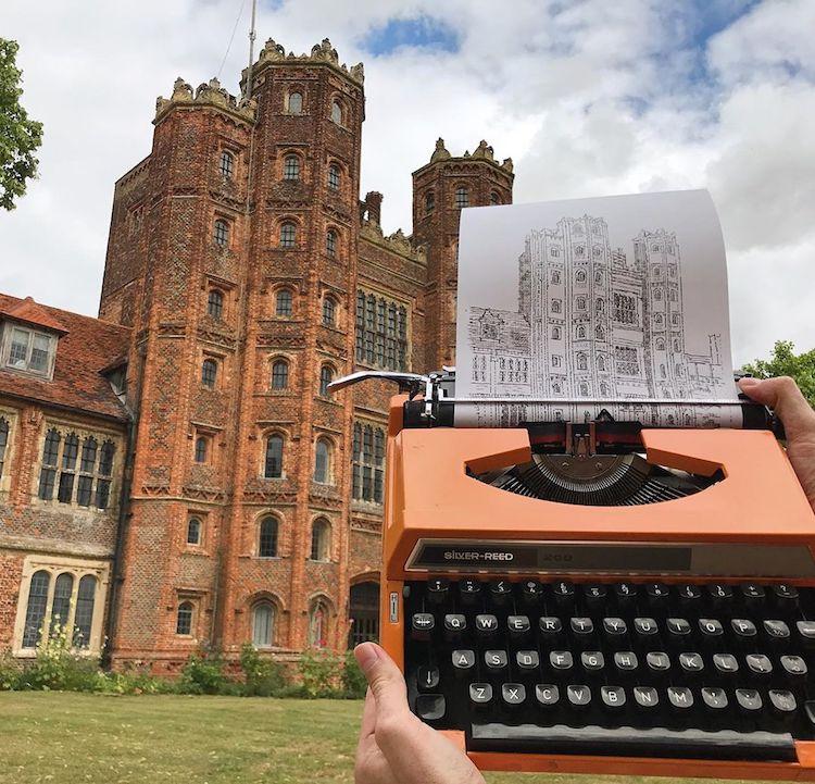 Typewriter Art by James Cook
