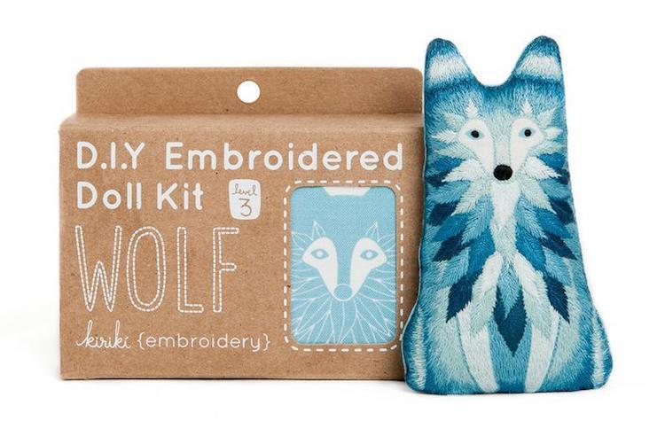 Kit de bordado de lobo