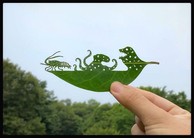 arte con hojas por lito_leafart
