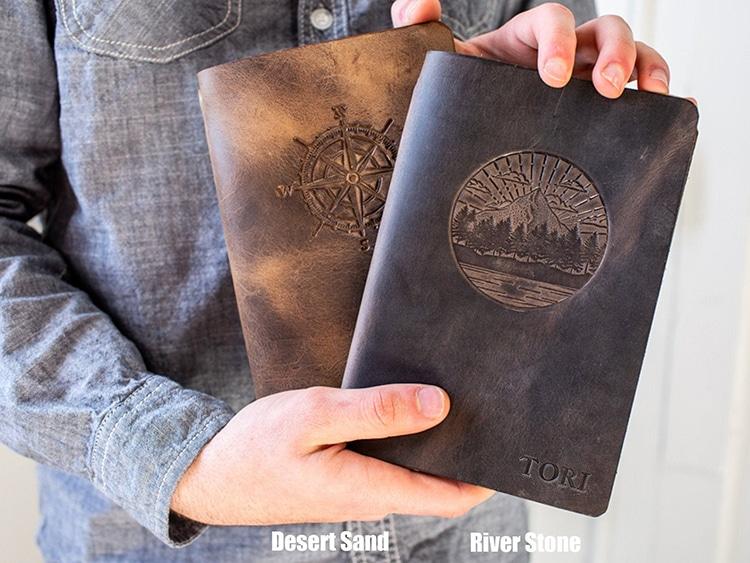 Leather Journal Customizable
