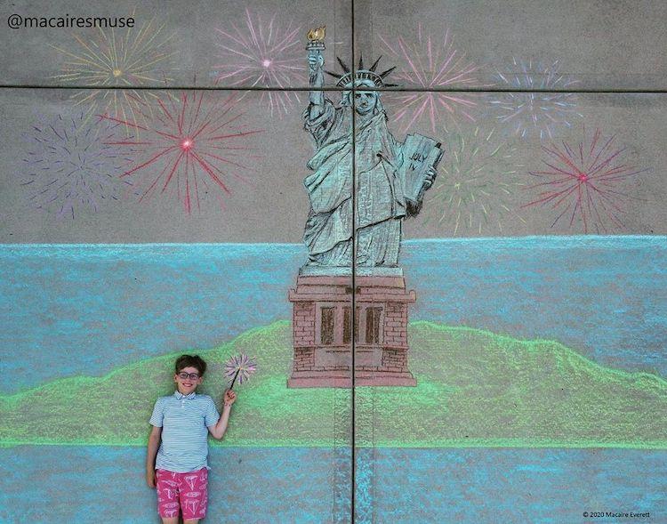 Imaginative Sidewalk Chalk Art
