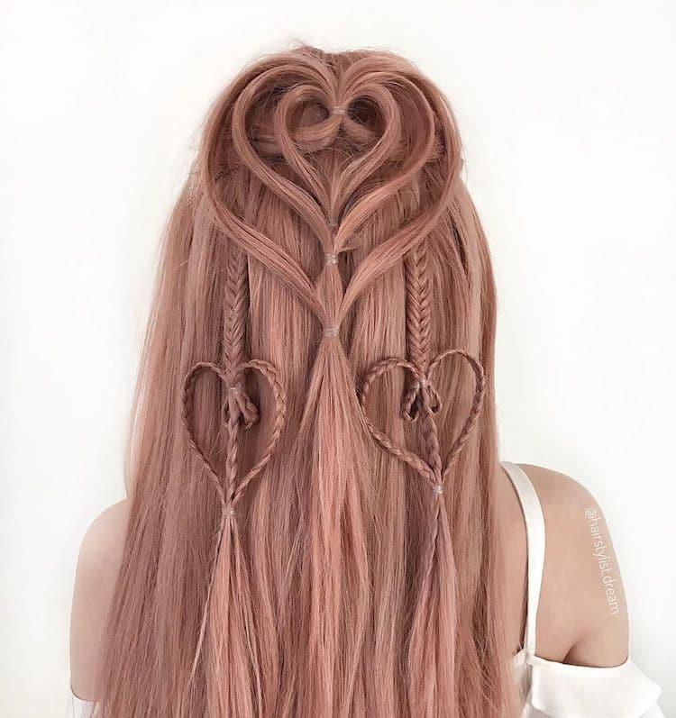 Peinados con trenzas por Milena