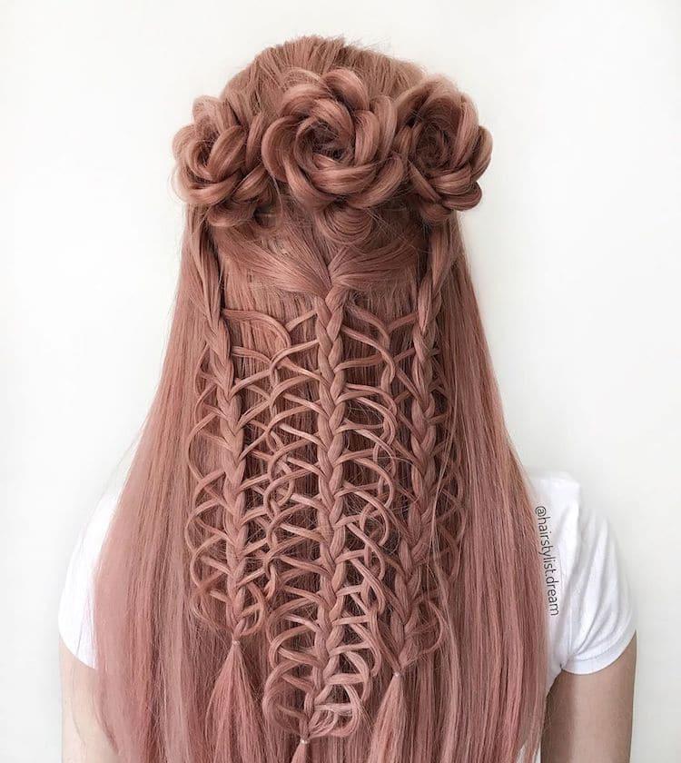 German Teenager Creates Amazing Braid Hairstyles
