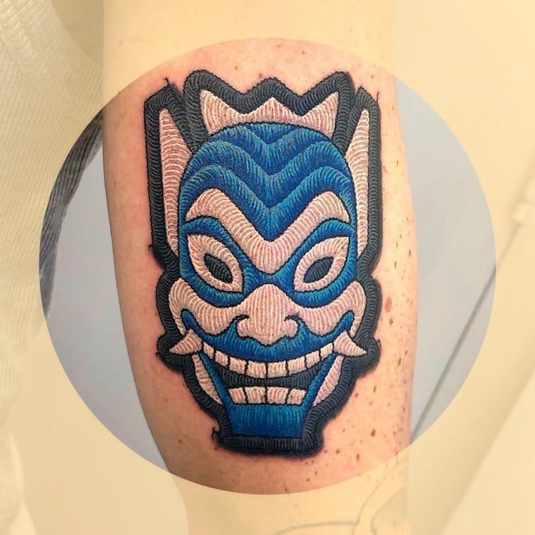 Pop Culture Patch Tattoo