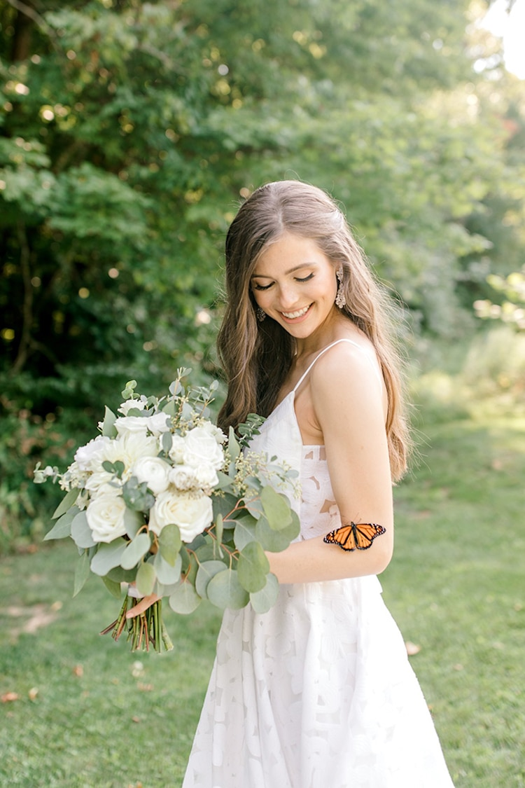 Monarch Butterfly Wedding Photoshoot by Laurenda Marie