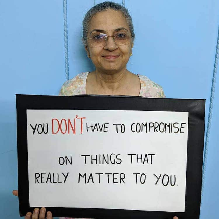Mom Holding Sign With Advice