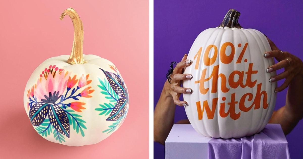 Creative Pumpkin Painting Ideas That Are An Alternative To Carving