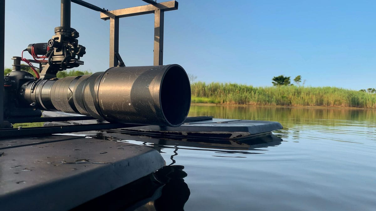 Camera Mounted on a Floating Bird Hide