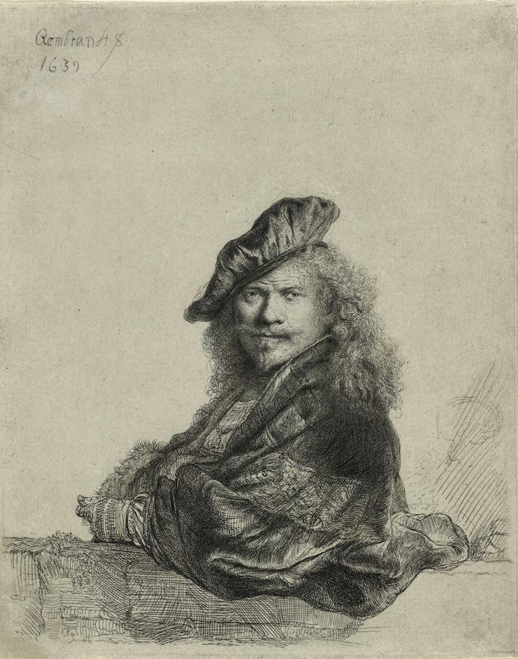 Aguafuerte de Rembrandt