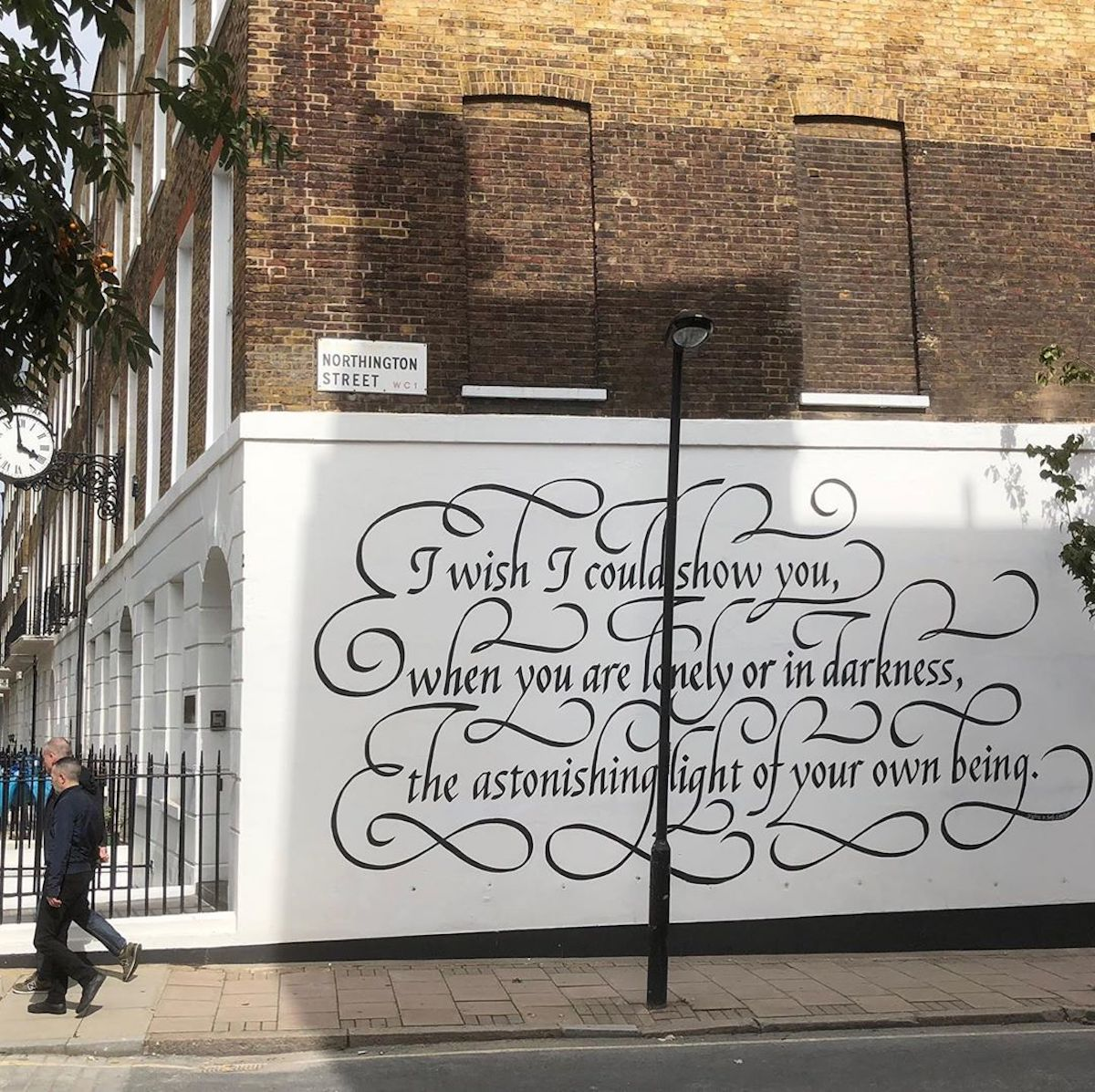 Calligraphy Mural by Seb Lester