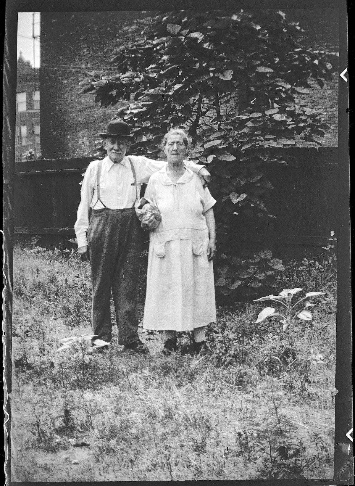 Old Portrait of a Couple in Chicago