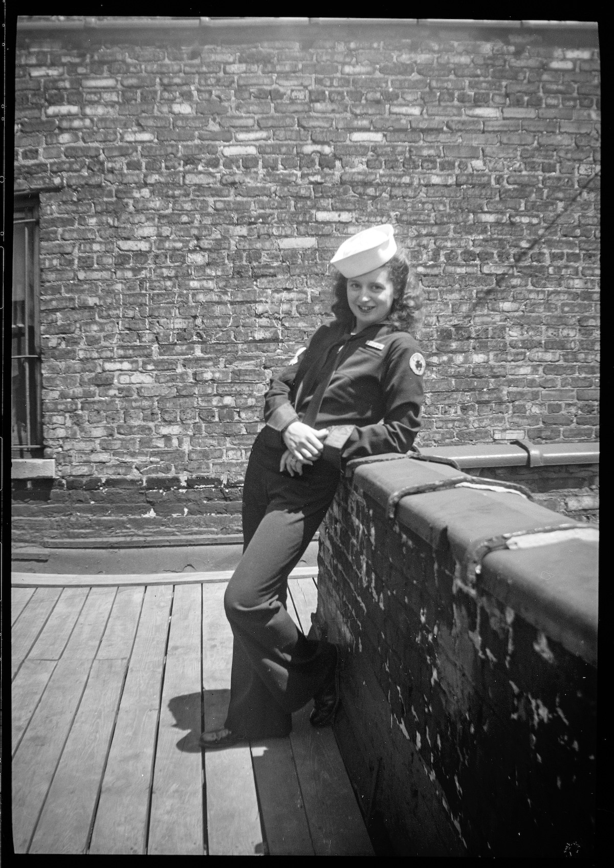 Girl in Chicago Posing in Naval Costume
