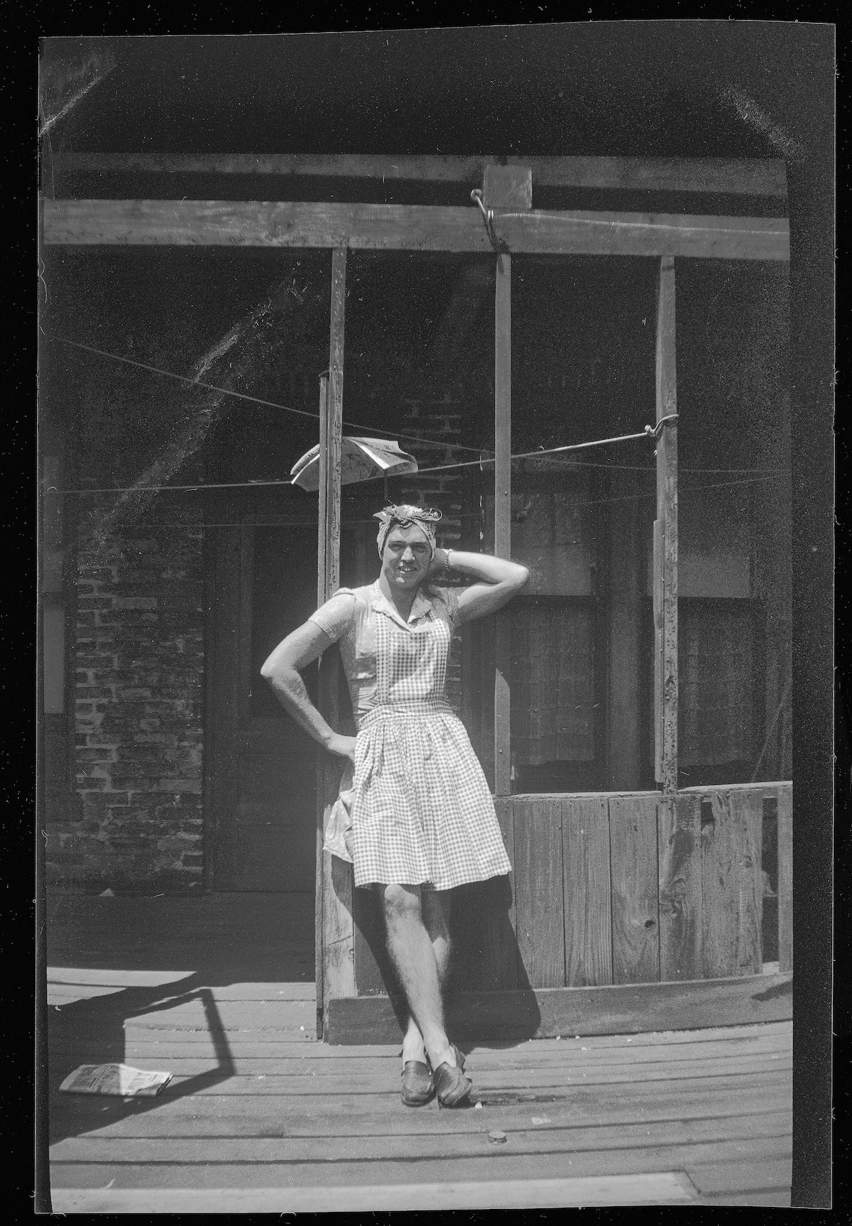 Vintage Photo of Man Dressed Up as a Woman