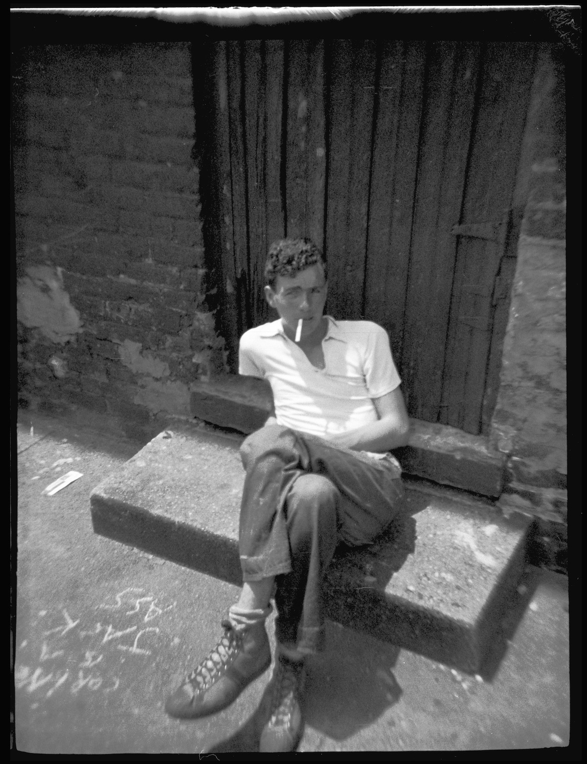 Man in Chicago in the 1930s with a Cigarette in His Mouth