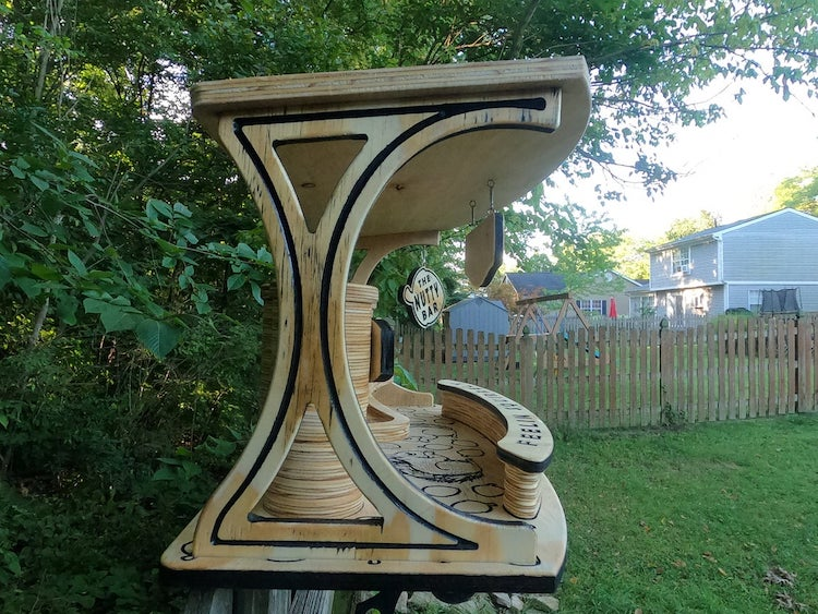 The Nutty Bar for Squirrels by Duke Harmon Woodworking